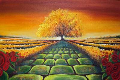 Painting - The Path Of Life by Carrie Bennett