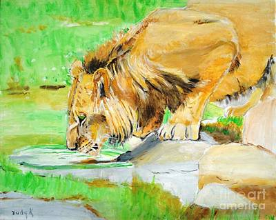 Painting - The Paws That Refreshes by Judy Kay