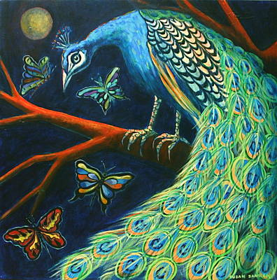 Painting - The Peacock by Susan Santiago