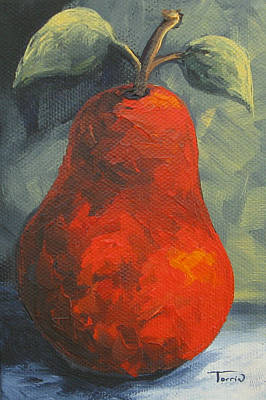 Pear Painting - The Pear Chronicles 015 by Torrie Smiley