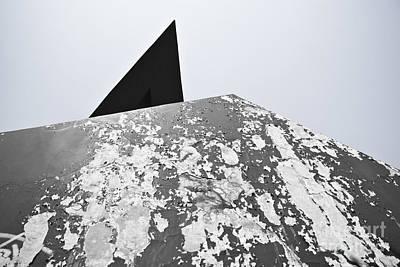 The Peeling Pyramids Art Print by L E Jimenez
