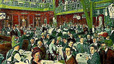 Painting - The Peking Restaurant In New York City In 1913   by Dwight Goss