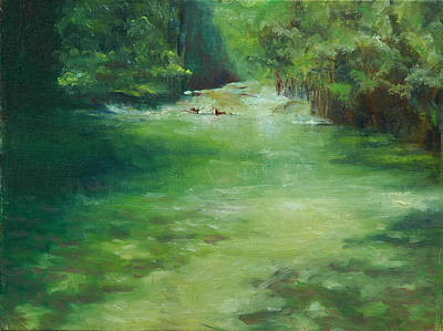 Franconia Notch Painting - The Pemi by Aline Lotter