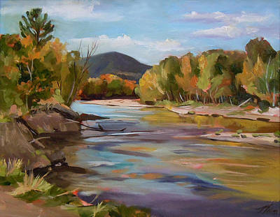 Painting - The Pemi In Autumn One by Nancy Griswold