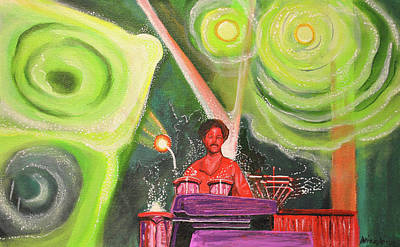 Jam Bands Painting - The Percussionist  by Patricia Arroyo