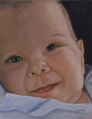 Painting - The Perfect Baby by Quwatha Valentine