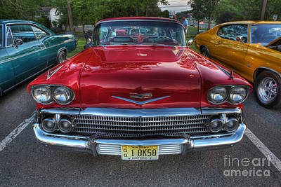 Photograph - The Perfect Red Bel Air by Lee Dos Santos