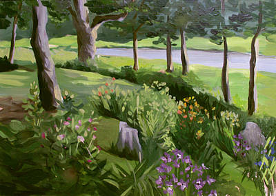 Painting - The Perrinial Garden by Nancy Griswold