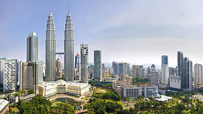 Malaysia Photograph - The Petronas Twin Towers by Ng Hock How
