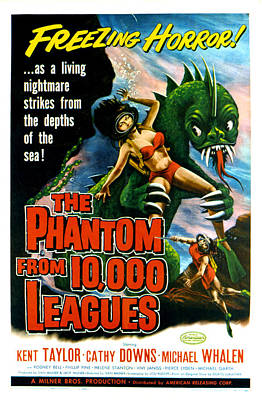 The Phantom From 10,000 Leagues, Poster Art Print by Everett