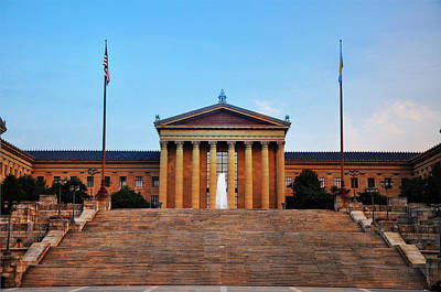 Phillies Digital Art - The Philadelphia Museum Of Art Front View by Bill Cannon