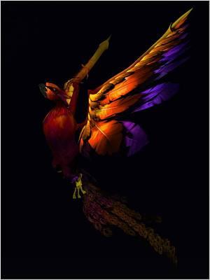 Art Print featuring the digital art The Phoenix Rising... by Tim Fillingim
