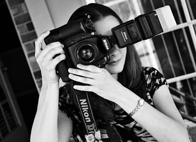 D700 Photograph - The Photographer by Ricky Barnard