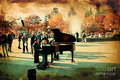 New York City Photograph - The Piano Man by Ken Marsh