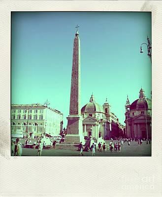 The Piazza Del Popolo. Rome Art Print by Bernard Jaubert