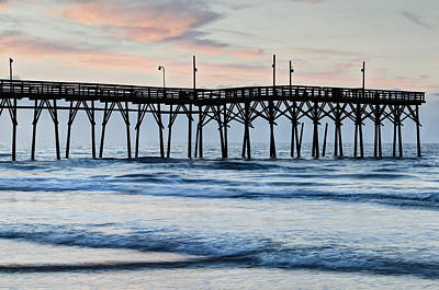 Y120817 Photograph - The Pier At Sunset Beach, North Carolina by Dennis Flaherty