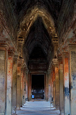 Architcture Photograph - The Pillars Of Angkor by Arj Munoz