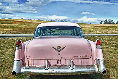 The Pink Cadillac Art Print by Kathy Jennings