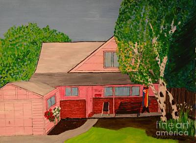 Painting - The Pink Cottage At 3025 by Bill Hubbard