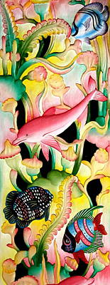 Painting - The Pink Dolphin by Karon Melillo DeVega