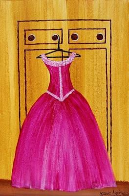 The Pink Dress 4535 Art Print by Jessie Meier