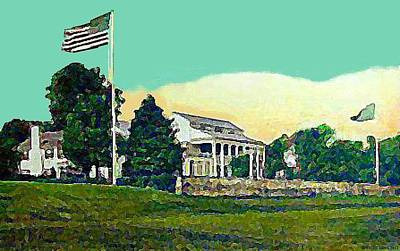 Painting - The Piping Rock Club In Locust Valley L I N Y In 1924 by Dwight Goss