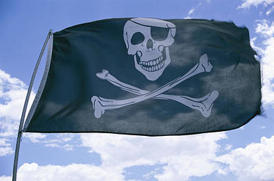 The Pirate Flag Known As The Jolly Art Print by Stephen St. John