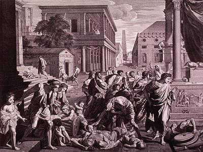 The Plague Of Ashdod Or Epidemic Among Art Print by Everett