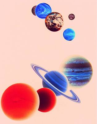 The Planets, Excluding Pluto Art Print by Digital Vision.