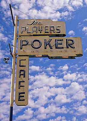 The Players Poker Cafe Art Print by Ron Regalado