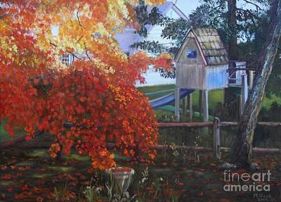 Painting - The Playhouse In Fall by Marlene Book