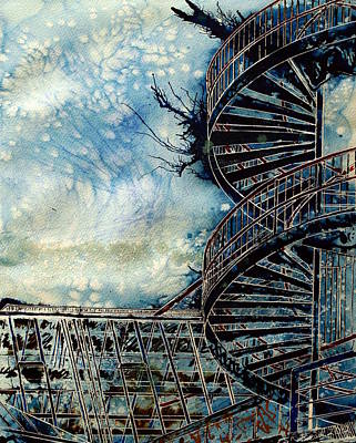 The Point Of Steps Art Print by Cathy S R Read