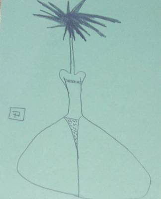Primitive Drawing - The Polka Dot Bikini by Peter  McPartlin