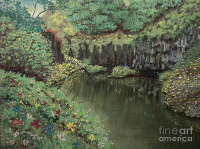 The Pond Art Print by Jim Barber Hove