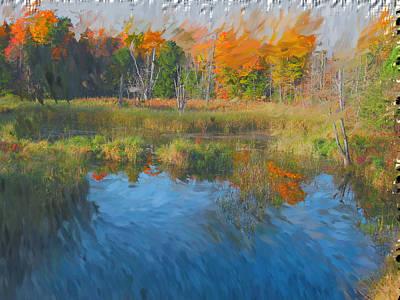 Manipulation Photograph - The Pond Next Door by Mario Carini