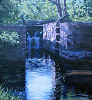 Painting - The Pool by Don Perino