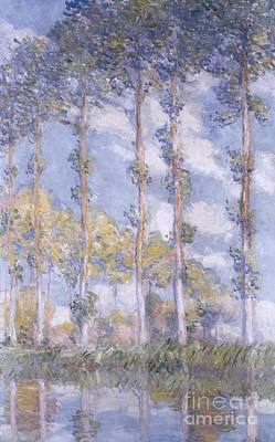 The Poplars Print by Claude Monet