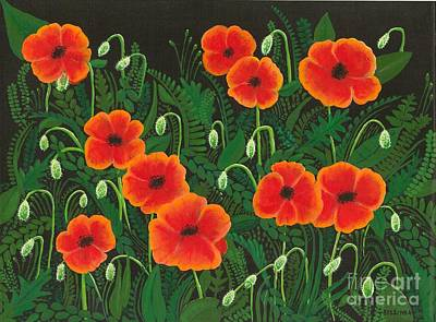 Painting - The Poppy Patch by Billinda Brandli DeVillez