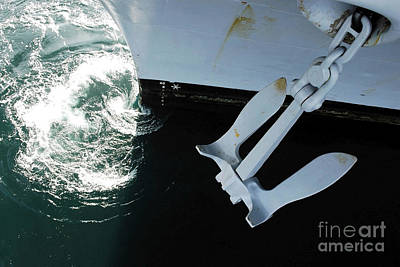 The Port Side Mark II Stockless Anchor Art Print by Stocktrek Images