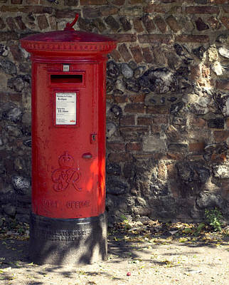 Er Photograph - The Post Box by Darren Burroughs
