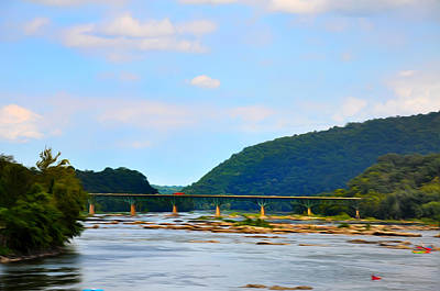 The Potomic River West Virginia Art Print by Bill Cannon