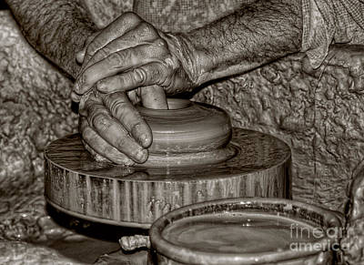 Artist Working Photograph - The Potter 2 by Joann Vitali