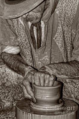 Artist Working Photograph - The Potter by Joann Vitali