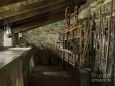 Heligan Photograph - The Potting Shed by Steev Stamford