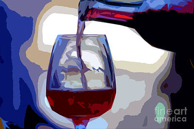 The Pour Art Print by Guy Shaham