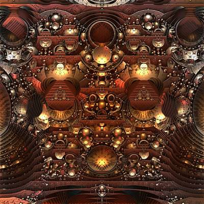 Mandelbulb Digital Art - The Power And The Glory by Lyle Hatch