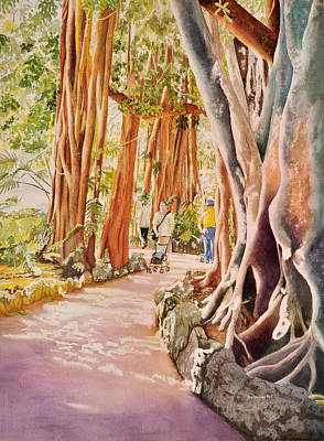 The Power Of The Banyan Art Print by Terry Arroyo Mulrooney