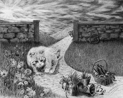 Drawing - The Predator And The Prey by Jyvonne Inman