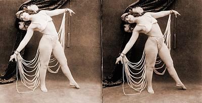 The Primadonna, A Stereo Photo Art Print by Everett