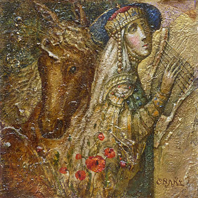 Sacral Painting - The Princess. Journey To Byzantium. The Left Side Of The Diptych by Yury Salko